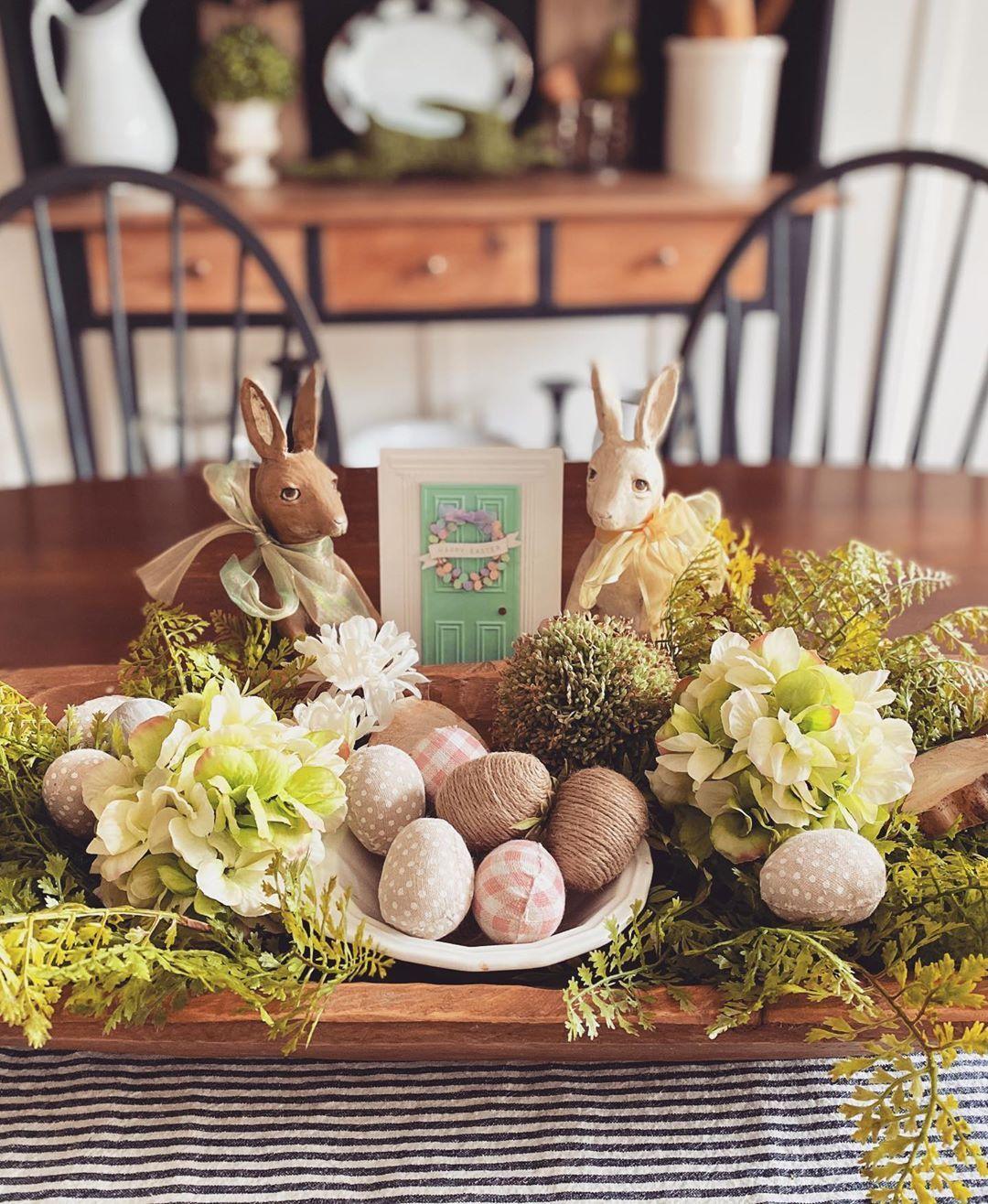 "Kate on Instagram: ""Happy Groundhog Day...I mean Easter 🐰 🐣🌷🌱🌼🐦😷🙏🏻🌿 . . . . . . . #easter2020  #happyeaster2020  #doughbowl  #doughbowllove  #diningtabledecor…"""