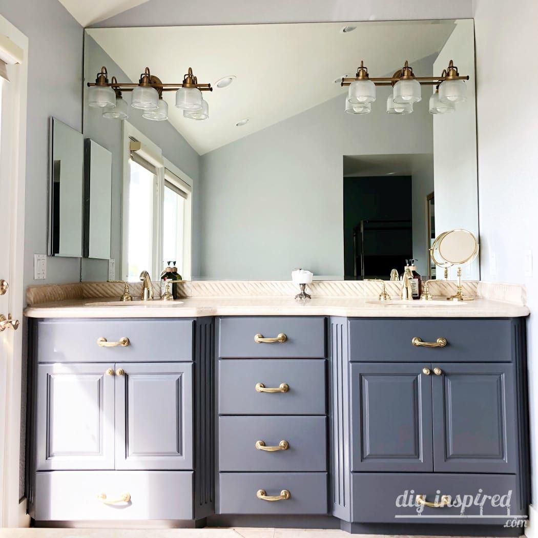 How to paint a bathroom vanity painting bathroom