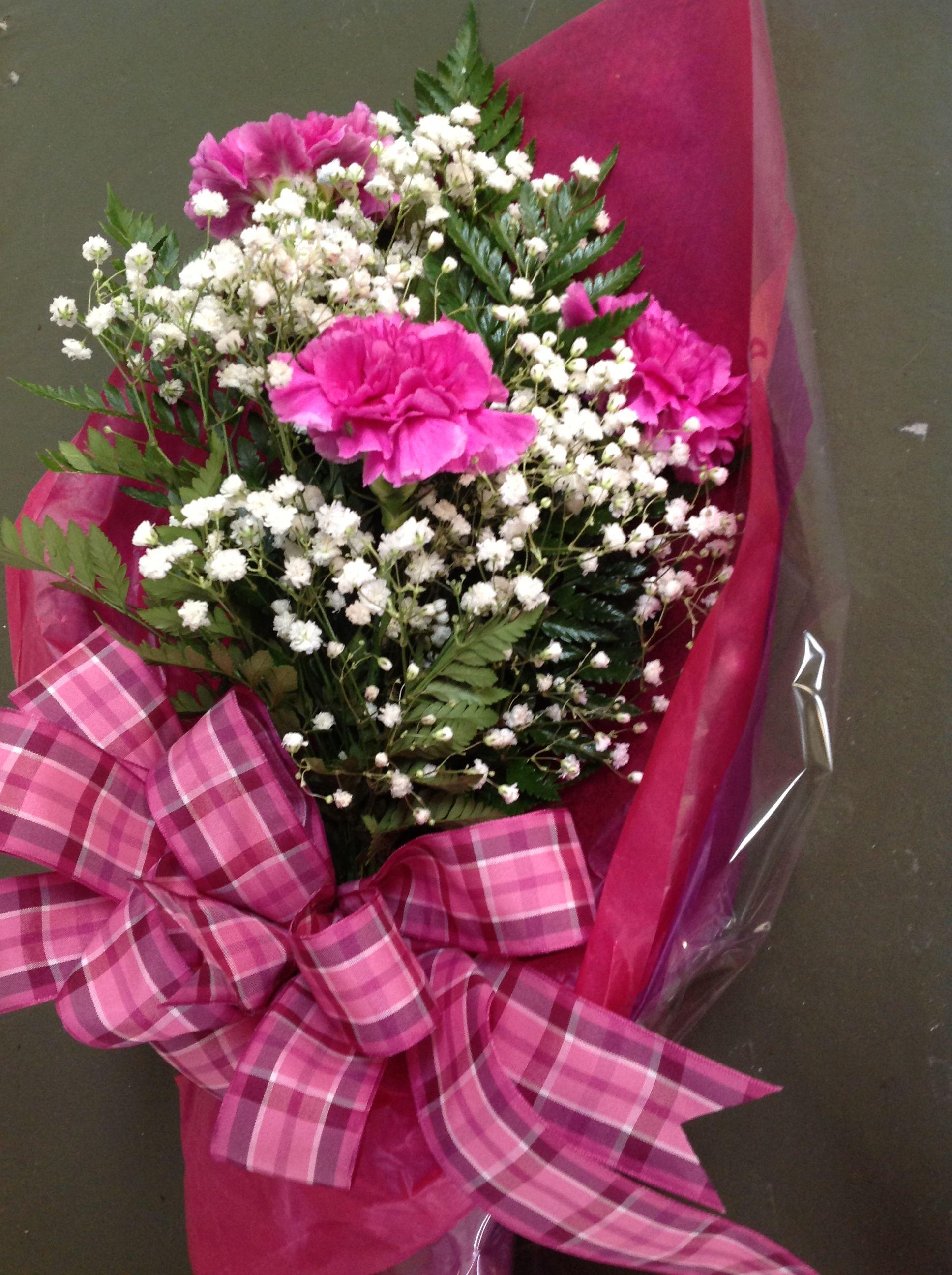 Recital Bouquet Pink Carnation Bloomersflowers Pink Carnations Flower Delivery Bouquet