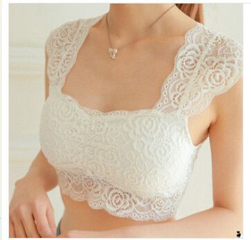 423b2fa894 Summer dress 2014 Sexy crop top Women camisole Hollow-out Lace Top Fashion  Vest Bra Pad Tank top Wholesale   resell