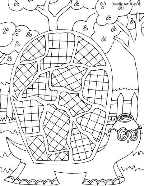 turtle doodle art | Coloring pages | Pinterest