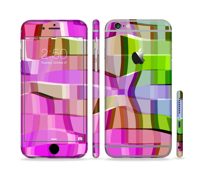 The Bright Translucent Wave Pattern V2 Sectioned Skin Series for the Apple iPhone 6s Plus