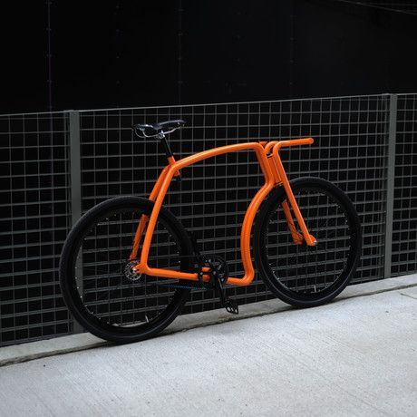 Viks Bicycle Orange Frame Black Rims Black Tires