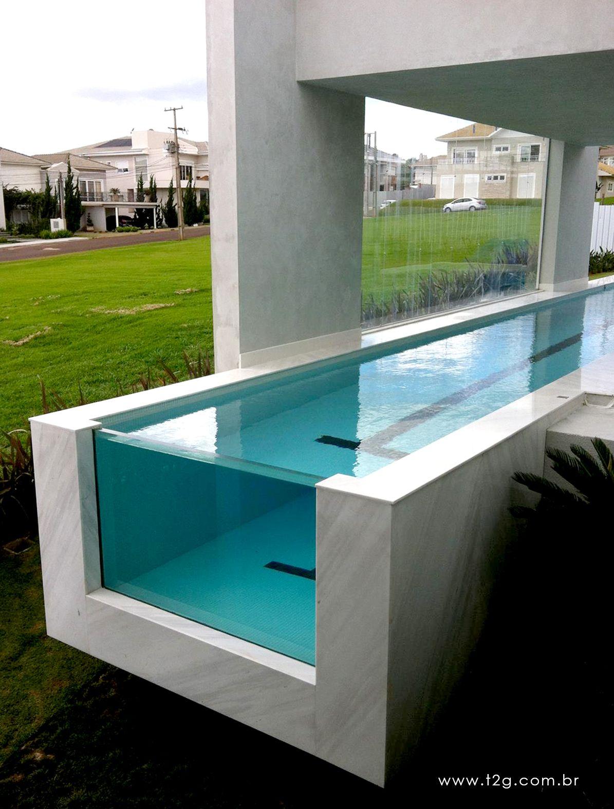 Piscina de vidro piscinas pinterest piscinas mini - Tipos de piscinas para casas ...