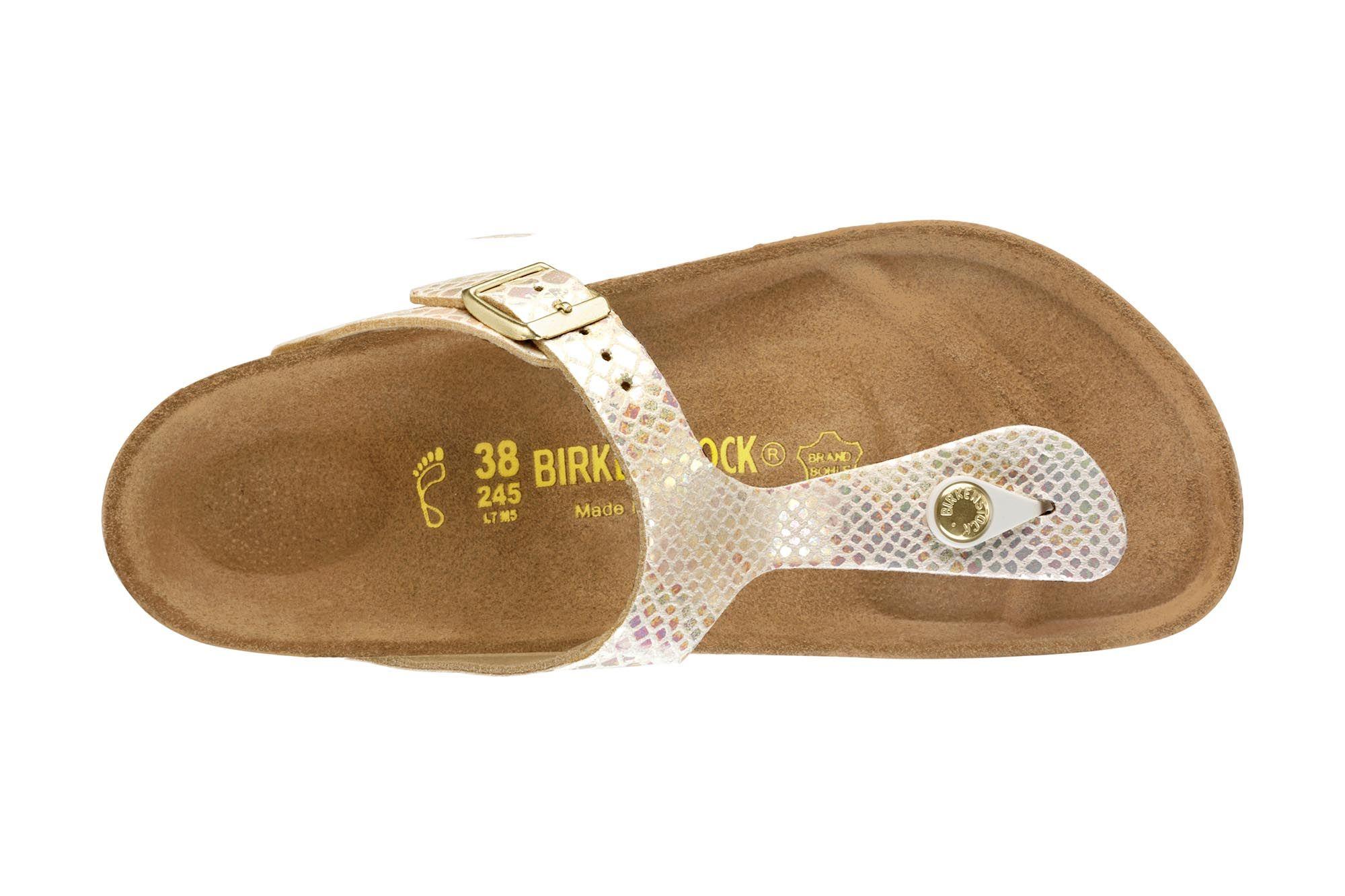 Gizeh Birko Flor Shiny Snake Cream | Schuhe, Birkenstock gizeh