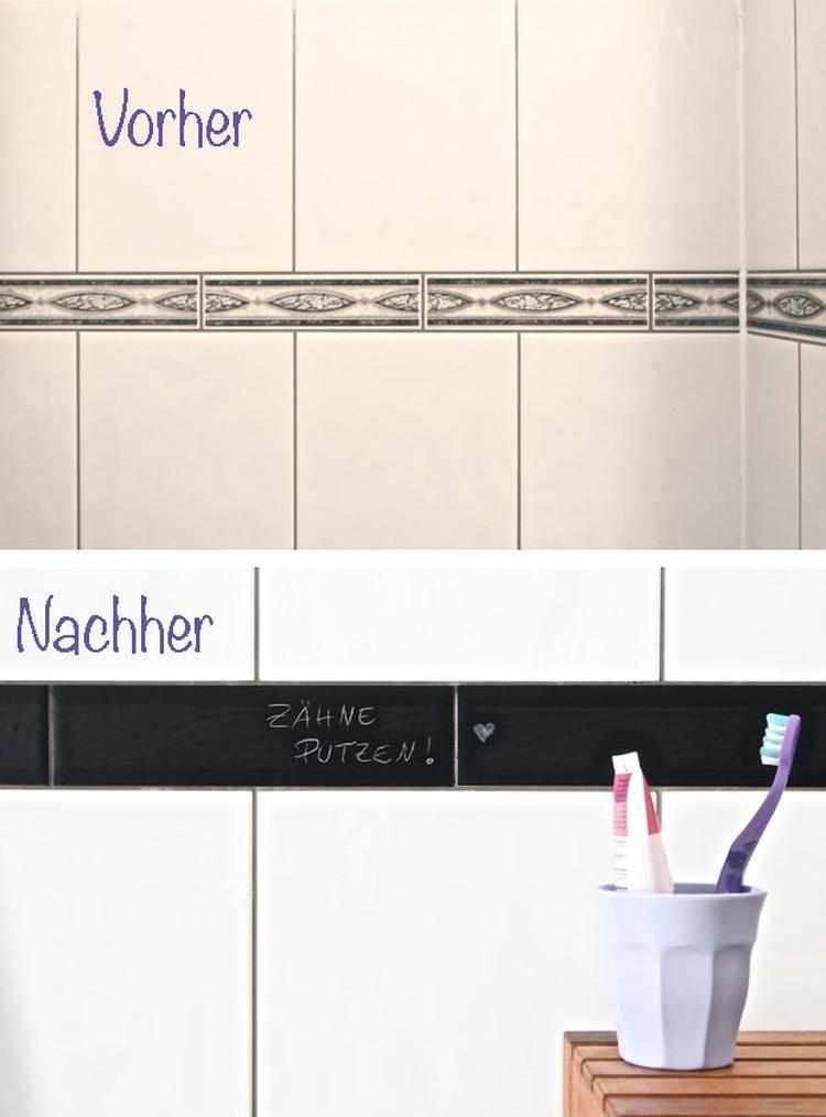 Mit Schultafel Klebefolie Alte Hassliche Fliesen Bekleben Von Motherart Reading Room Decor Home Decor Mirrors Diy Bathroom