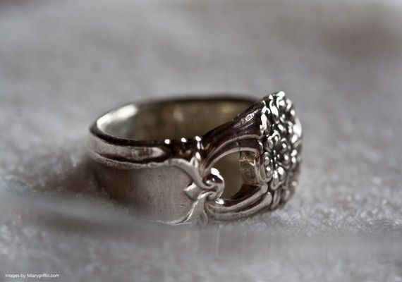rings and other jewelry made from cutlery