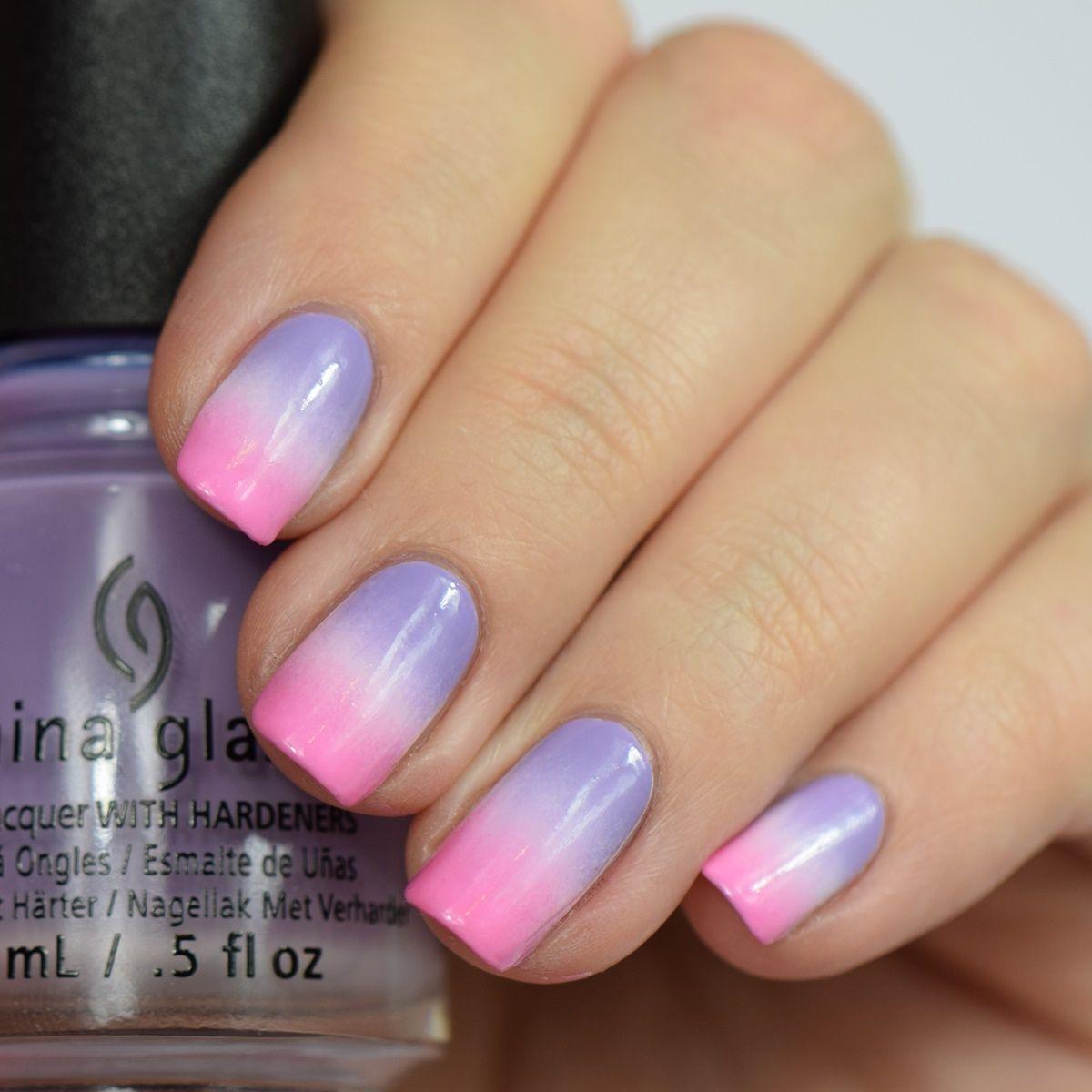 gradient nails pink und lila nageldesign nailart nageldesign pinterest. Black Bedroom Furniture Sets. Home Design Ideas