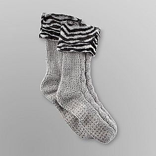 f0d121e65 Joe Boxer -Women's Chenille Slipper Socks - Faux Fur Cuffs | ALL IN ...