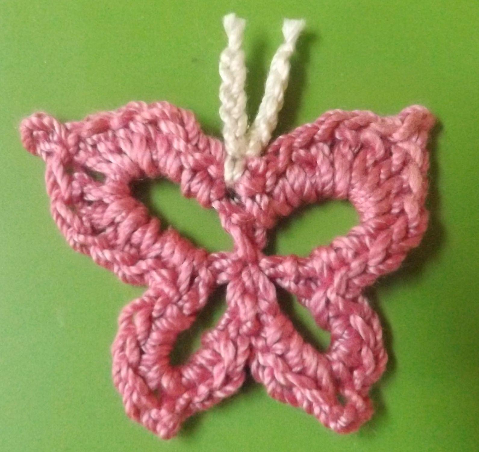 Butterfly I - Crochet Applique / Motif / Garland