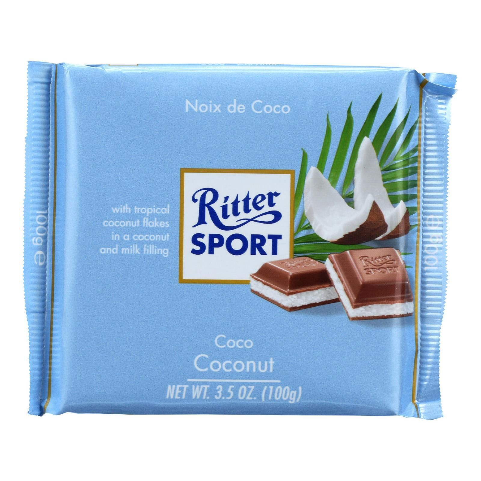 Ritter Sport Chocolate Bar Milk Chocolate Coconut 3