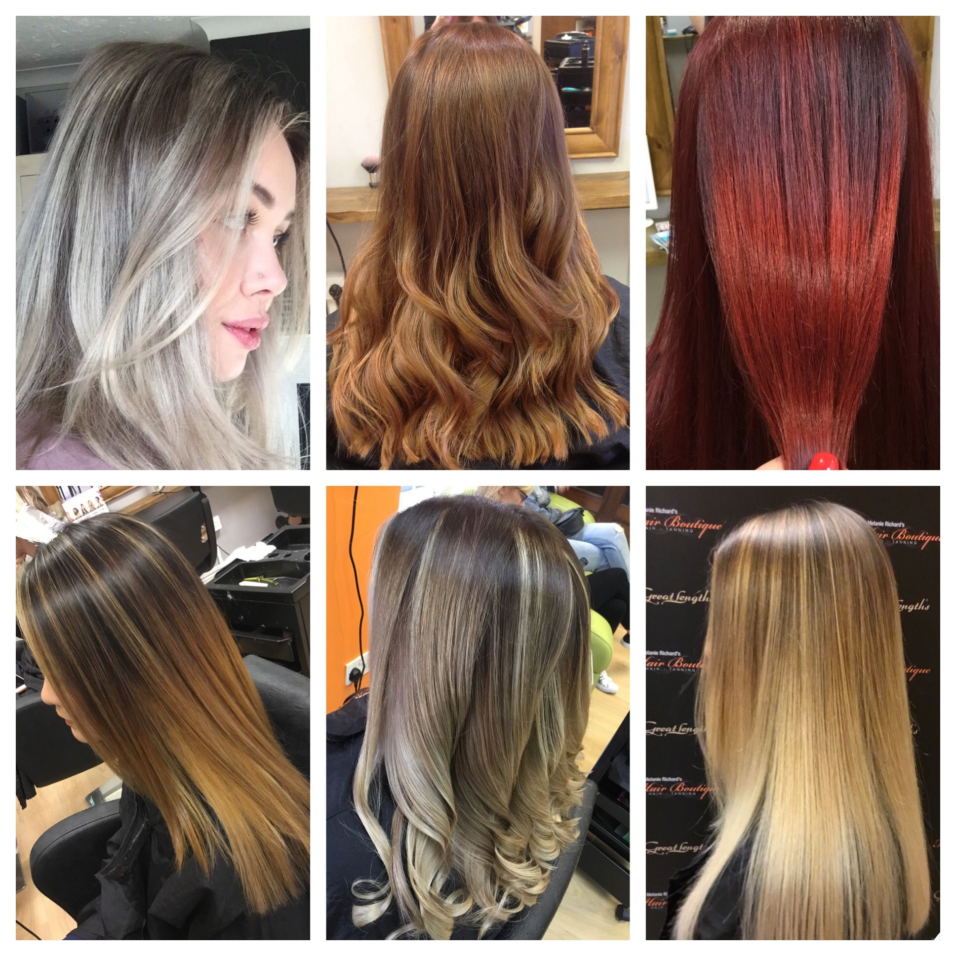 A range of Balayages and freelights by some of our Stylists 😍👌🏻❤️ #wellacolour #freehand #freelights #personalised #colour #balayage #tones #longhair #blend #fashion #melanierichardshairboutique #peterborough