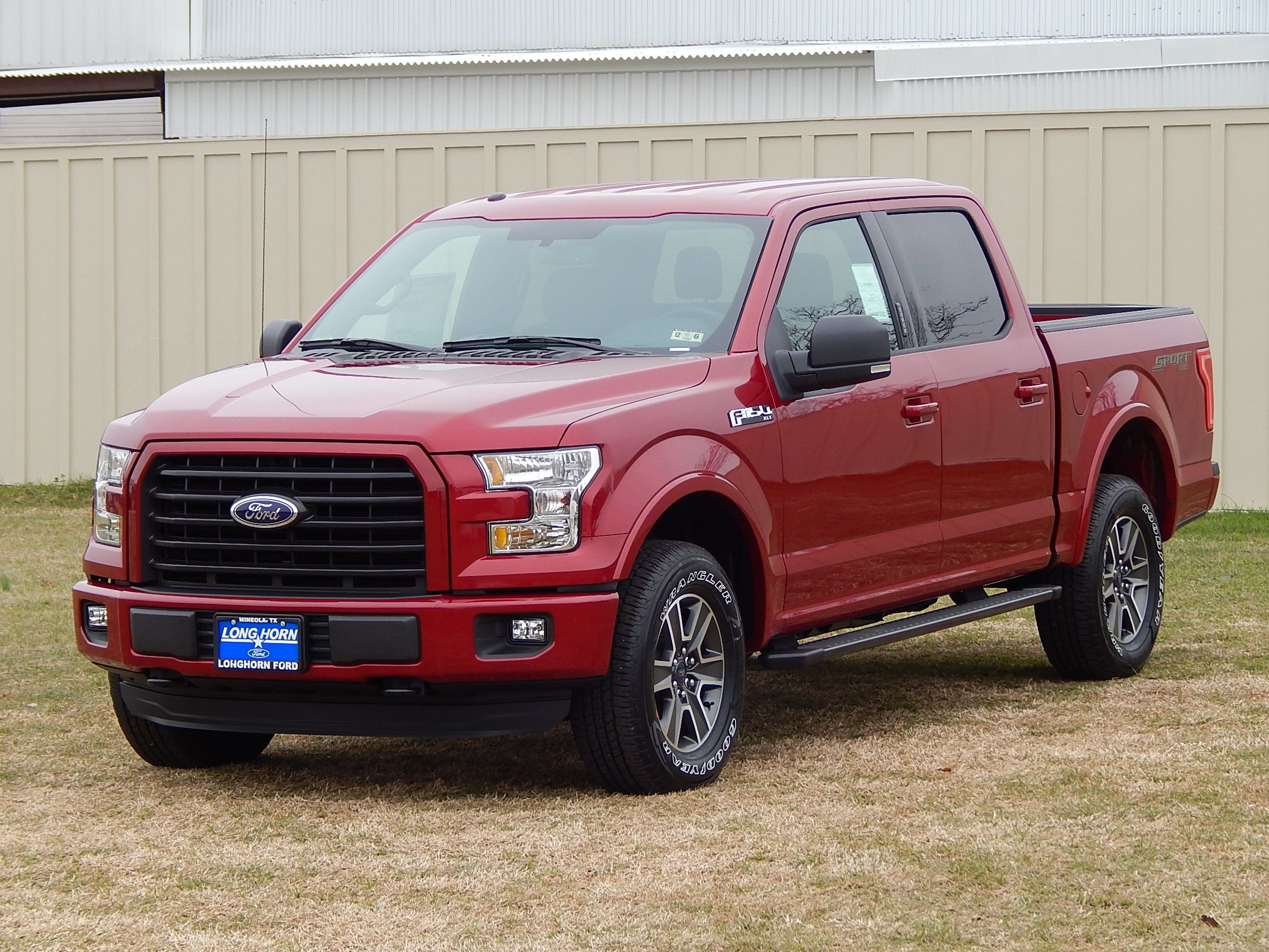All new 2015 Ford F150 XLT SuperCrew 4X4 in Ruby Red