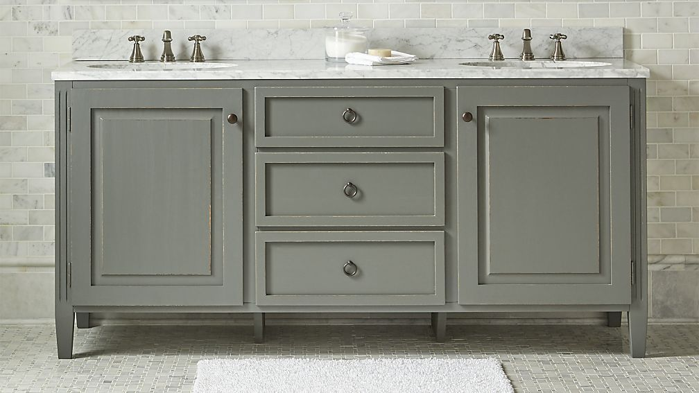 Britta double vanity crate and barrel bathroom sinks - Crate and barrel bathroom vanities ...