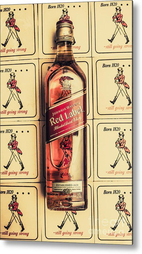 Bar Wall Art. Old Johnnie Walker Red Label Metal Print by Jorgo ...