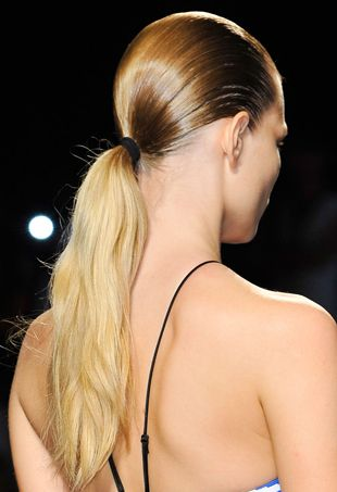 Beauty spring trend sporty ponytails