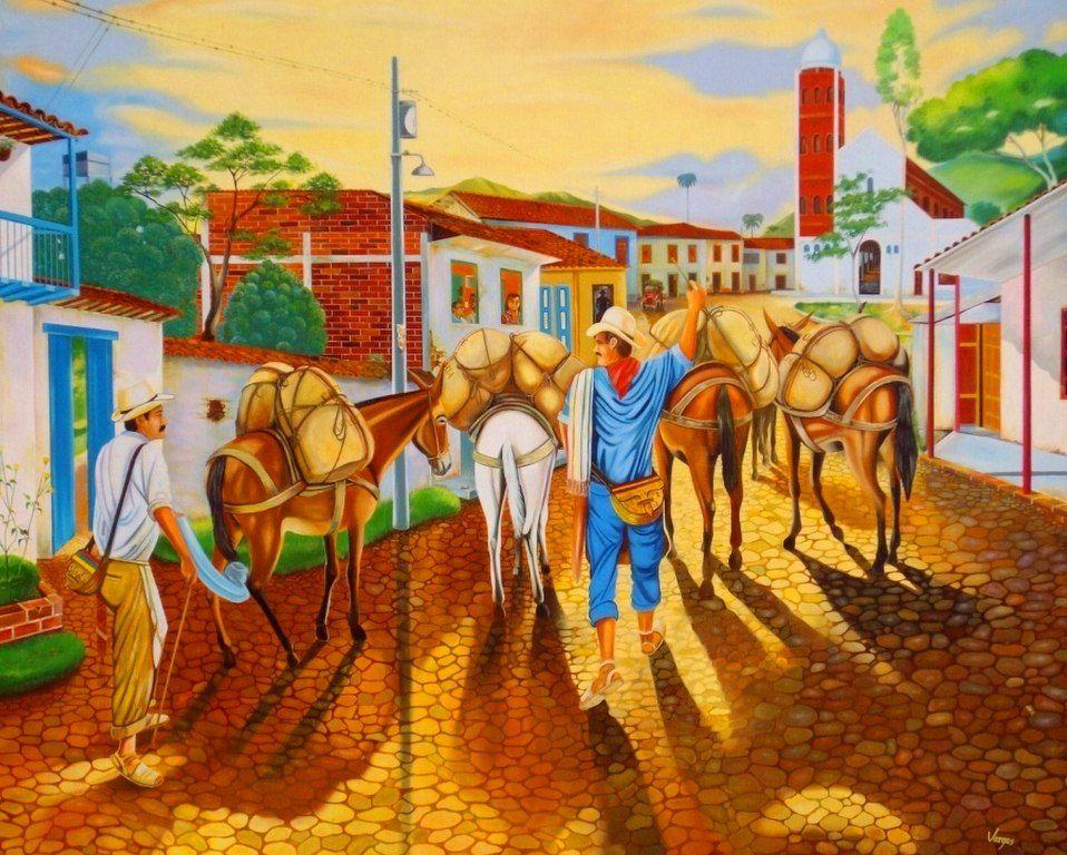 Paisajes y bodegones oleos paisajes coloridos pinturas for Cuadros mexicanos rusticos