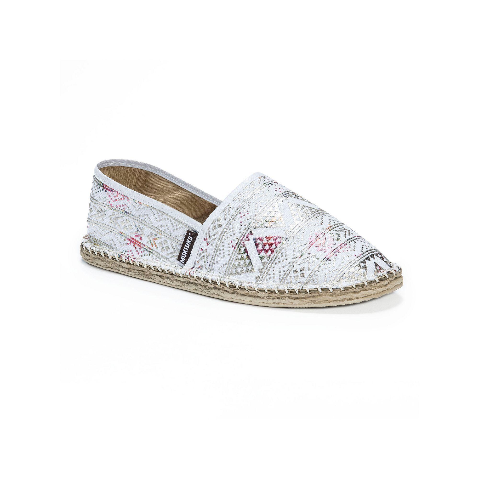 MUK LUKS Josie Women's Espadrille Flats, Size: 10, White