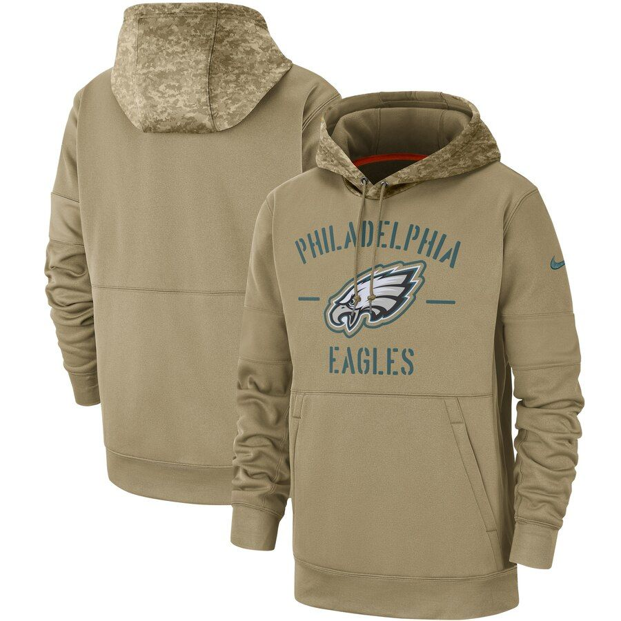 Men S Philadelphia Eagles Nike Tan 2019 Salute To Service Sideline Therma Pullover Hoodie Salute To Service Pullover Hoodie Pullover [ 900 x 900 Pixel ]