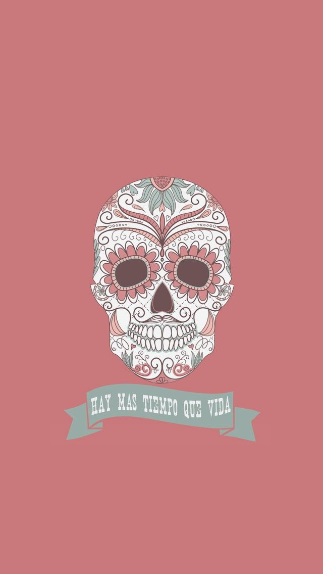 Here's free wallpaper in honor of El Dia De Los Muertos, which is celebrated the first and second days of November. To install it, f.