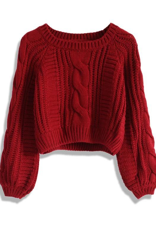 06c5c16c0e007f Sweater weather! Here are the top cropped and cozy sweaters for fall  Bauchfreier Pullover,