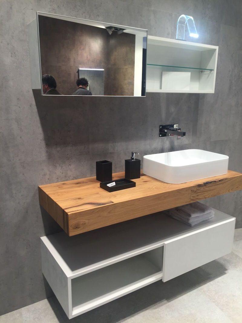 plan de travail salle de bain en bois pour tous les styles 20 inspirations pinterest. Black Bedroom Furniture Sets. Home Design Ideas