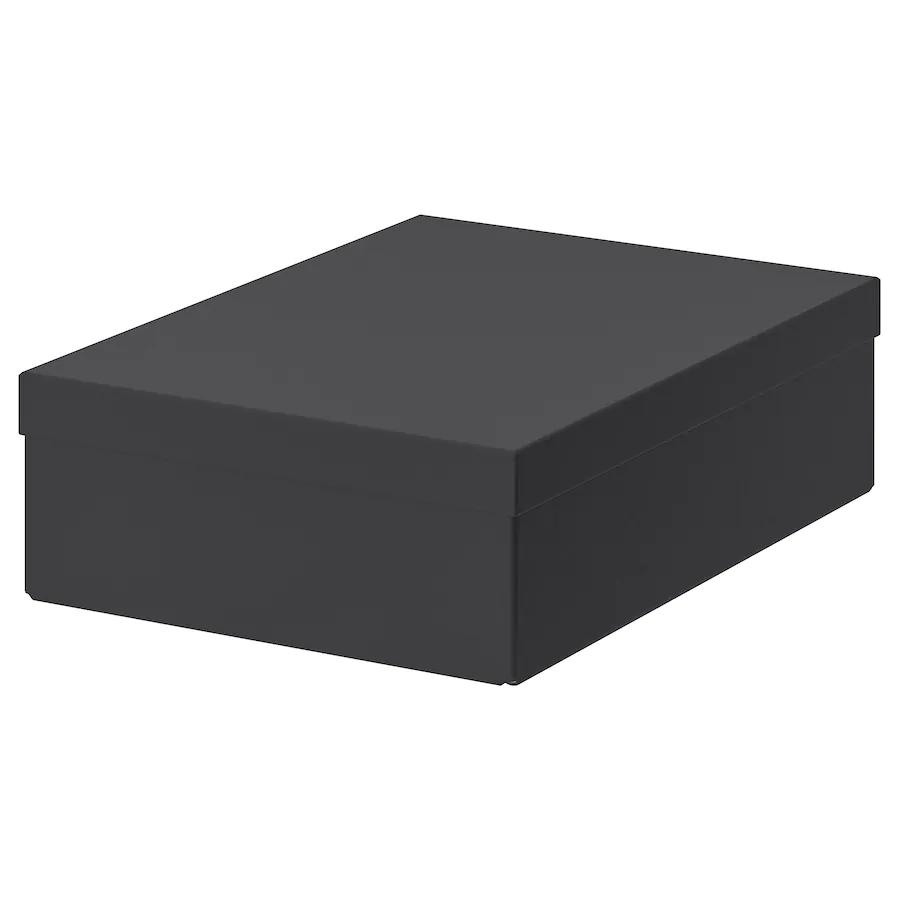 Tjena Forvaringslada Med Lock Svart 25x35x10 Cm Ikea I 2020 Forvaringslada Skrivbordstillbehor Forvaringslador