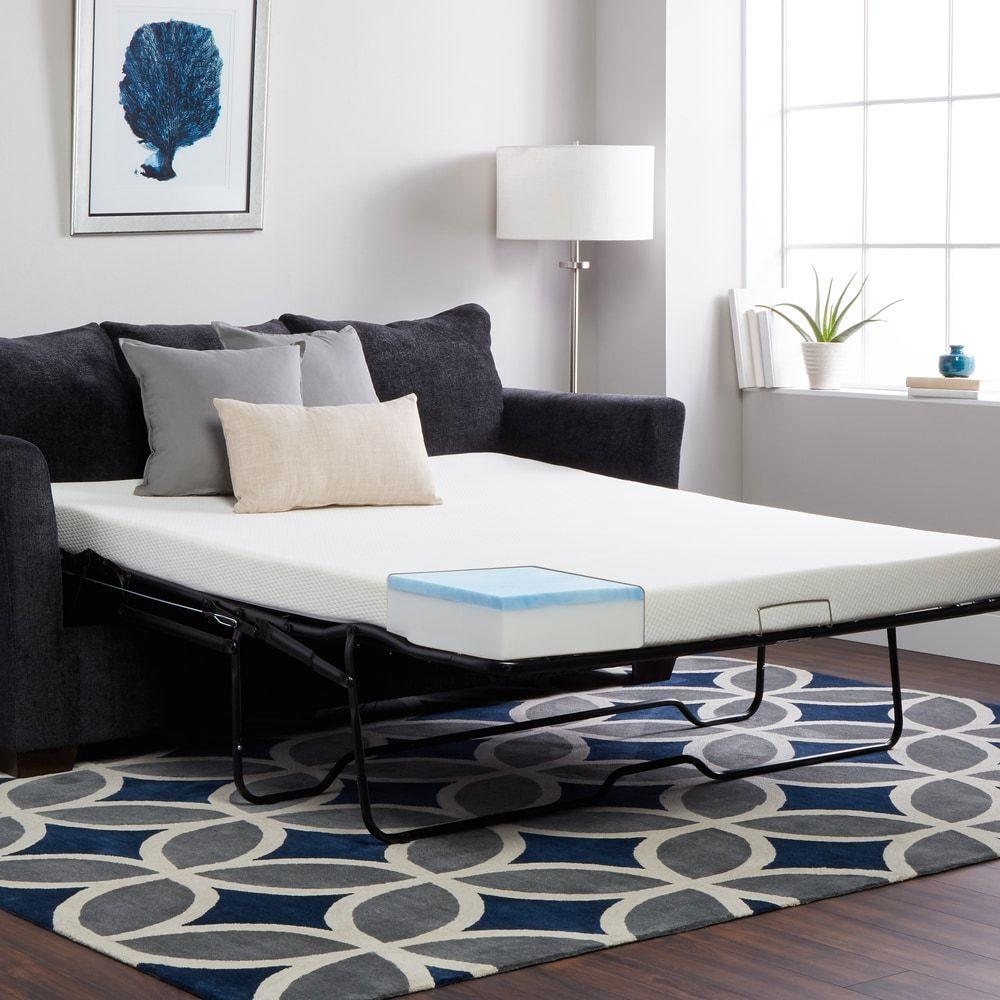Select Luxury 4 5 Inch Sleeper Sofa Replacement Gel Memory Foam