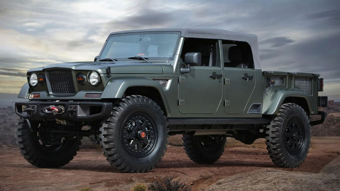Jeep Wrangler Four Door Ute Confirmed For Australia Jeep Concept