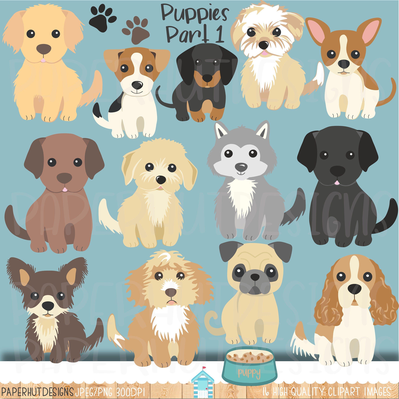 Puppy Dog Clipartdog Clipartpuppiespuppy Clip Artdog Clip Etsy In 2020 Dog Clip Art Puppy Clipart Labradoodle Golden Retrievers