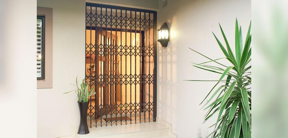 Trellidor Retractable Security Gates Offer Good Protection On Front