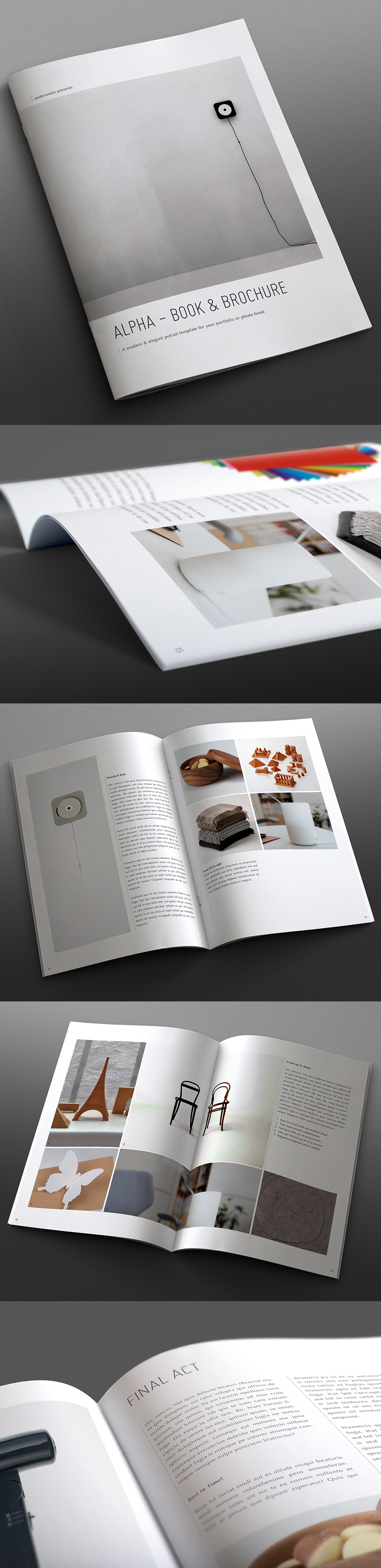 Alpha Series Book Amp Brochure Template Portrait By Andersdenkend Via Creattica Publishing Design Editorial Design Layout Book Editorial Design