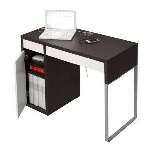 Computermeubel Bureau Ikea.Ikea Micke Desk Black Brown White Ikea Small Desk Micke
