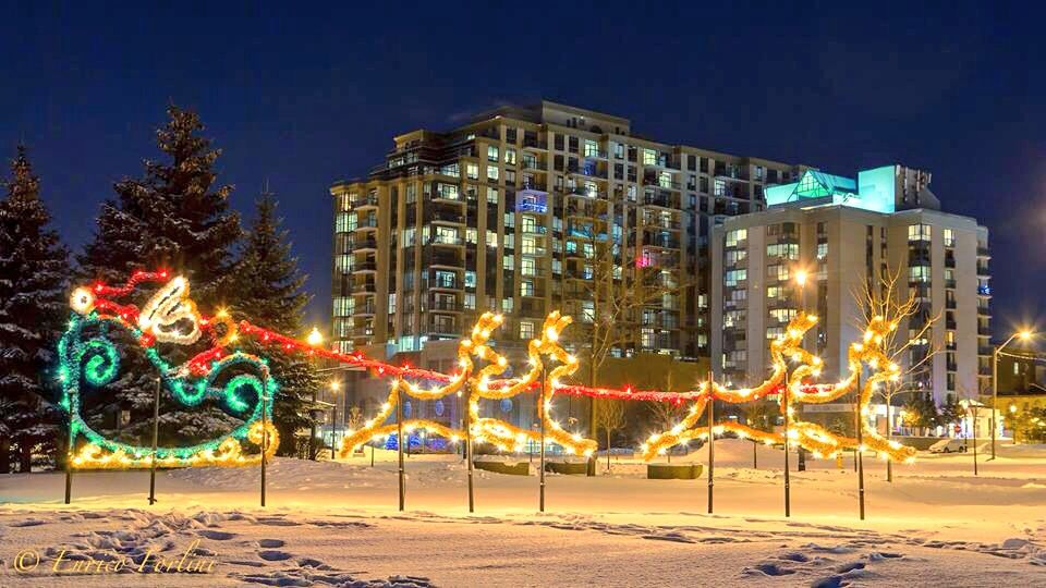 Barrie Ontario Winter Lights Ontario winter, Canada