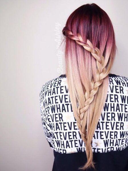 Rot-Blond Ombre | Haar Farbe Ideen | Pinterest | blonde Haarfarbe ...