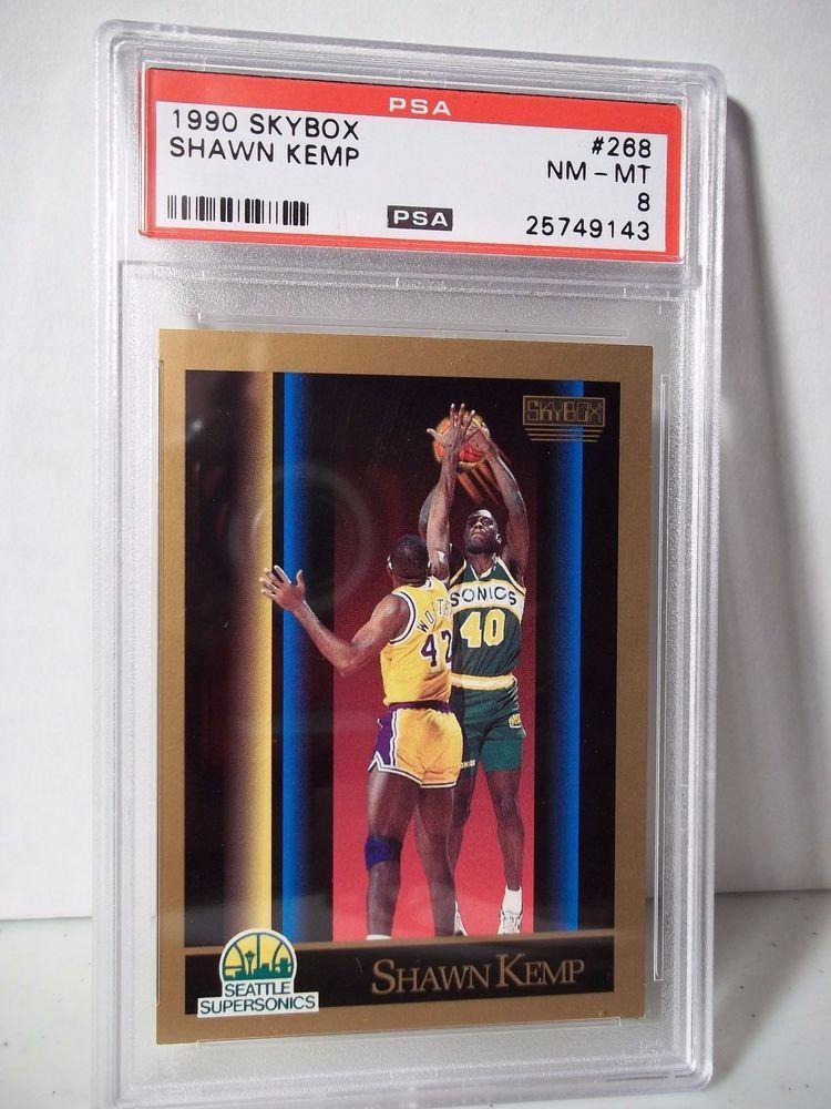 c02a97c3d71c3 1990 Skybox Shawn Kemp RC PSA NM-MT 8 Basketball Card #268 NBA ...