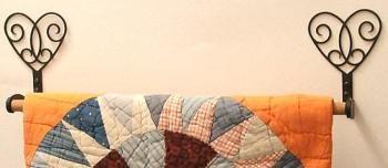 Wrought Iron Wall Hangers @ Robinsons Woodcrafts ... : quilting hangers - Adamdwight.com