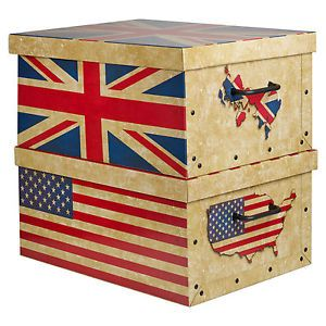 Details About 2 Large Underbed Cardboard Storage Boxes