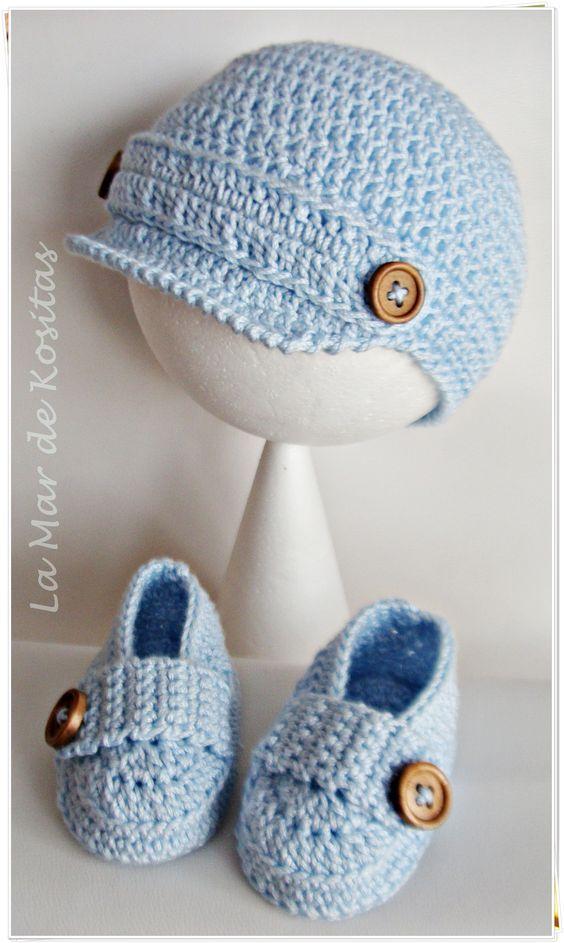 Gorro Bebe   Gorros de Bebé a Crochet   Pinterest   Patrones de lana ...