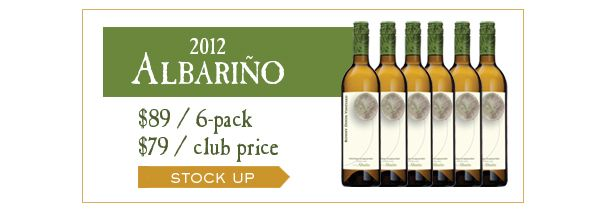 Stock up on our 6-pack of 2012 Albariño - specially priced at $89 for 6 bottles. Club member price: $79. Retail value $120. Hurry, we're almost sold out! #bonnydoonvineyard #albarino