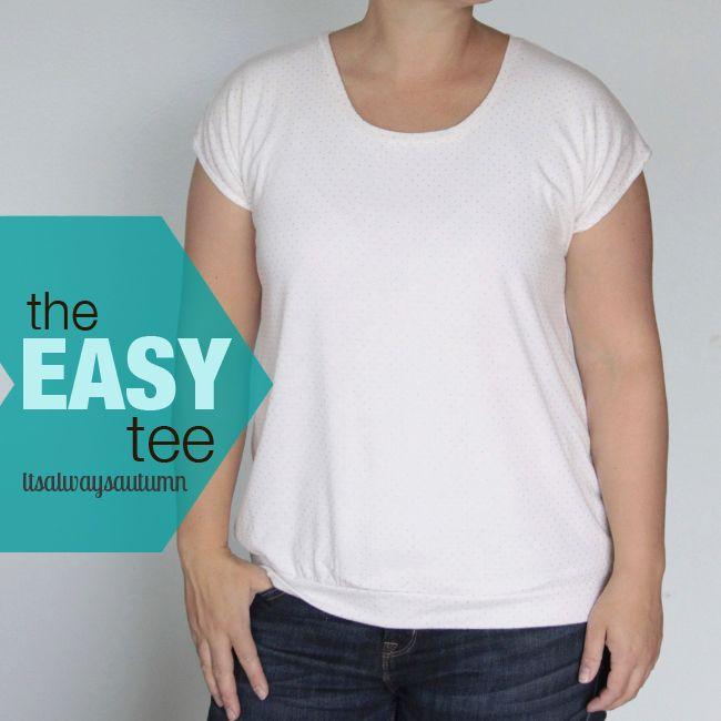 the easy tee {simplest women's t-shirt ever} - 1 Shirt viele Möglichkleiten: Basic, mit Peter Pan Kragen, Colorblocked / Blockstreifen, Pattern Drop, Raglan Sleeve, Lace / Spite Front, Stamped, 3/4 Sleeve, Long Sleeve  nach eigener Shirt vorlage oder als Schnittmuster zum Download