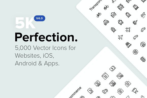 5 000 Perfect Icons New V4 0 By Icon54 On Creativemarket New V3