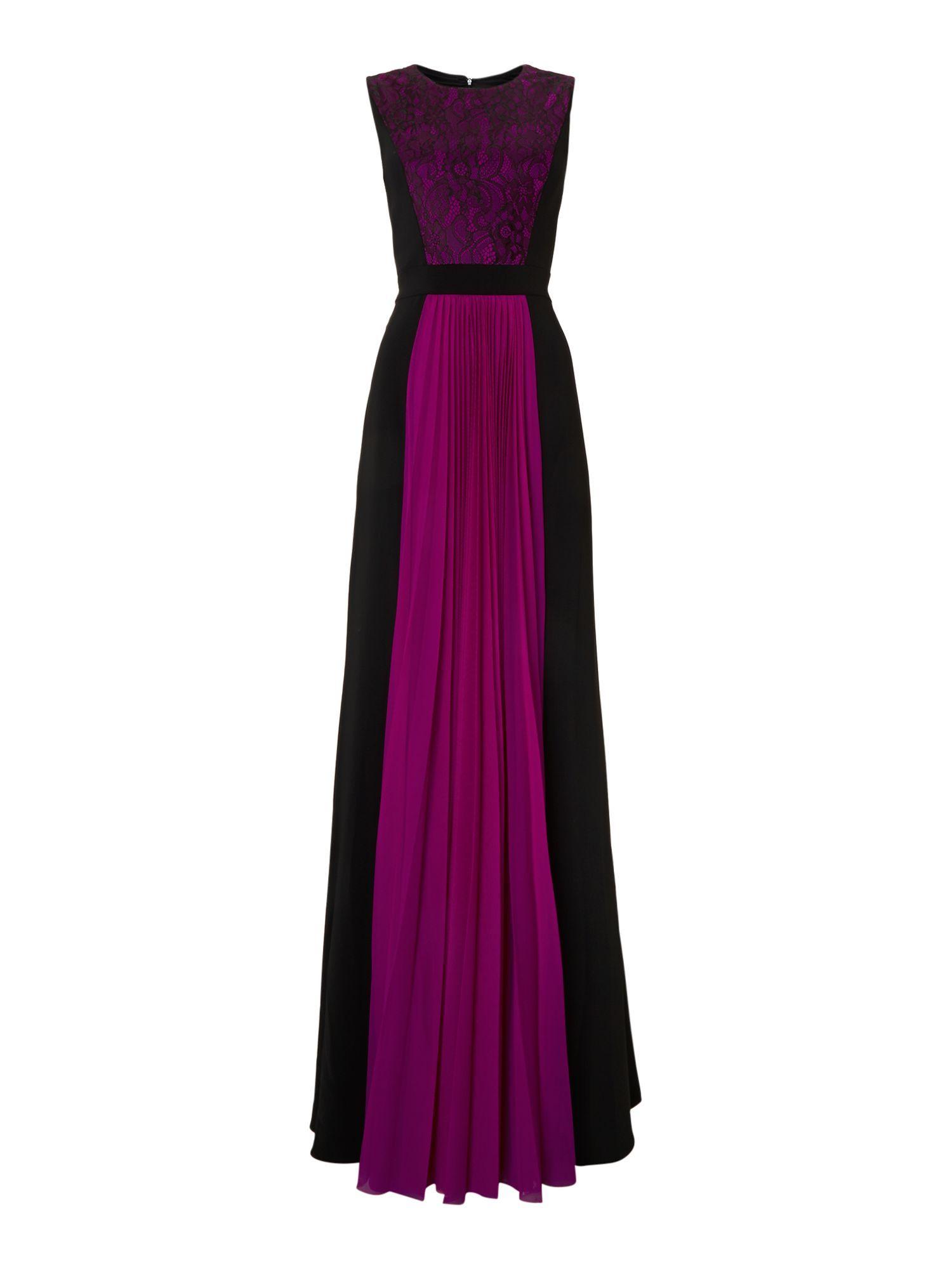 Colour Block Panelled Slimming Tunic Illusion Dresses Panel Dress ...
