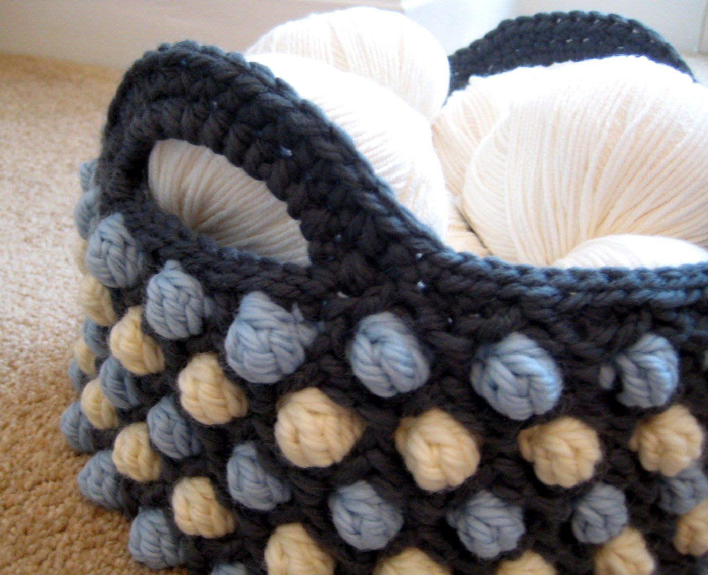Honeycomb Pop Basket - a free crochet pattern from Make My Day ...