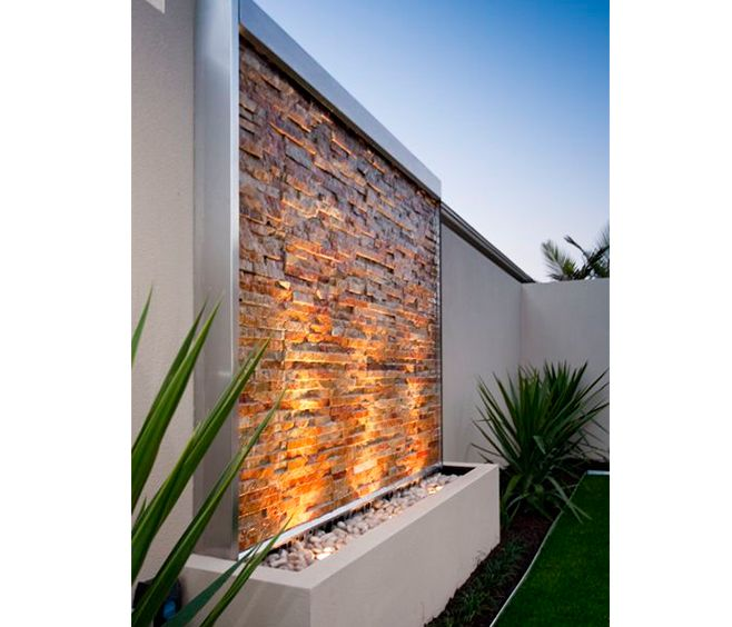 This U0027ready To Gou0027 Water Wall Panel And Pond Water Feature Can Be Installed