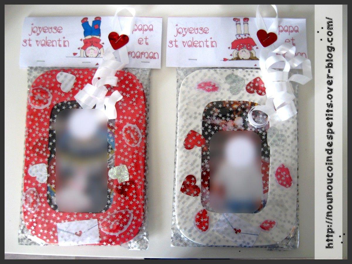 St Valentin Etiquette Cadeau Cadre St Valentin Etiquette