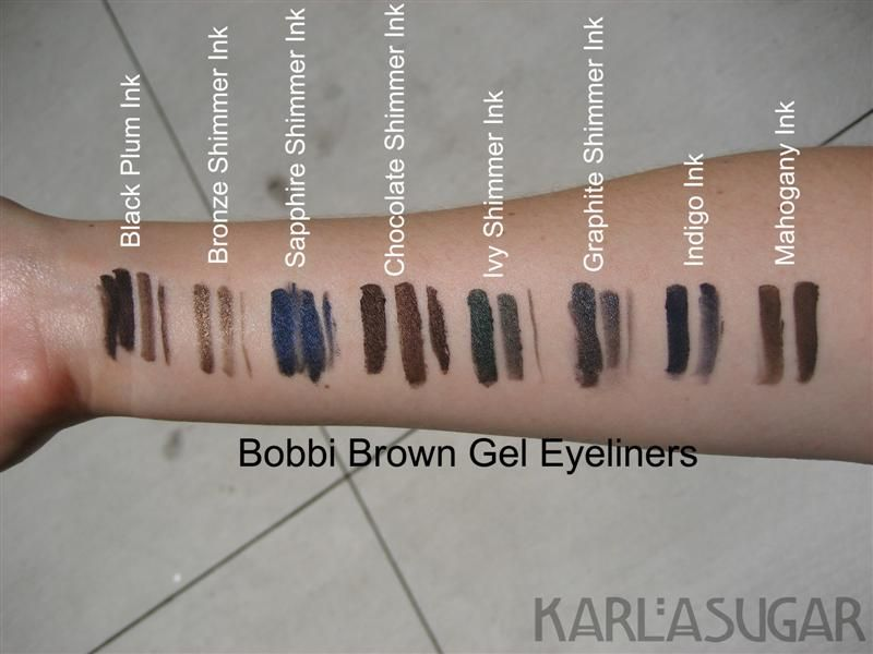Bobbi Brown Gel Eyeliner Swatches Photos Reviews