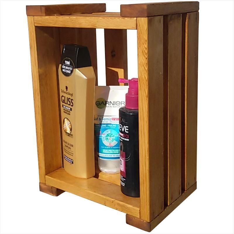 Ahşap Duş Rafı-Şampuanlık %100 Masif çam ağacından duş rafı, şampuanlık,