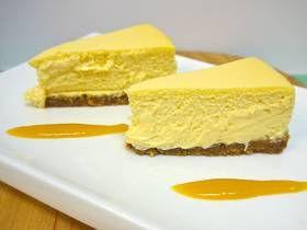 Pressure Cooked Cheesecake with Mango Sauce   Pressure ...