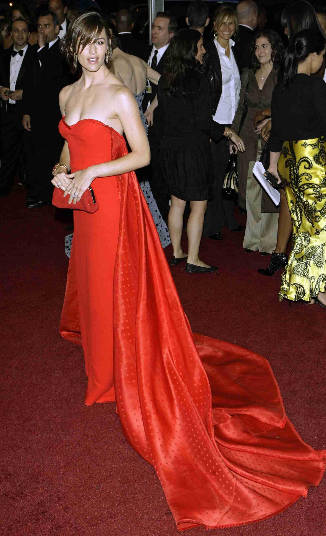Jennifer Garner Taupe In Person Dressed To Kill Red Dress Beautiful Dresses